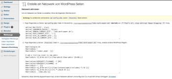 wp-config.php und htaccess einrichten