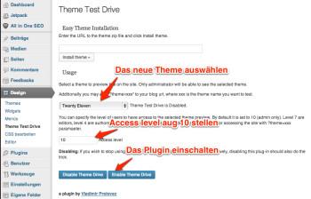 theme-test-drive-einstellen