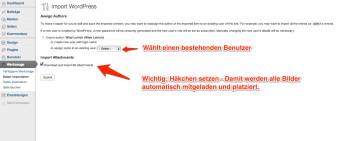 wordpress-export-datei-importieren